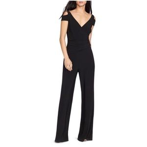 LAUREN RALPH LAUREN COLD SHOULDER WOMENS JUMPSUIT